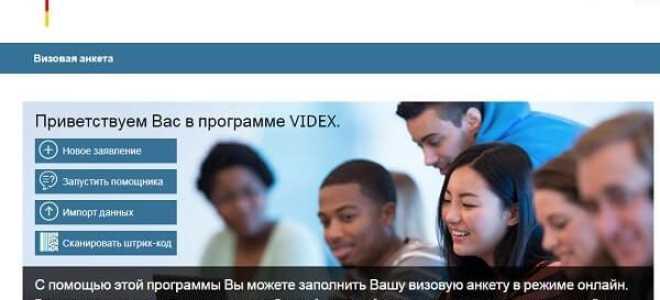 Заполнение заявления онлайн в центре выдачи виз Визаметрик