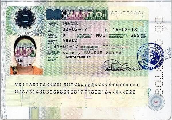 Гостевая виза в Италию