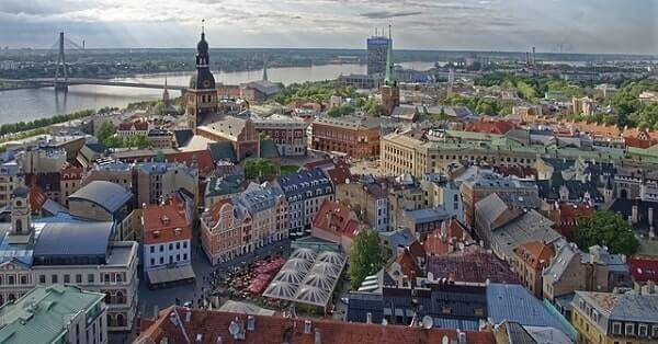 Панорамный вид Риги