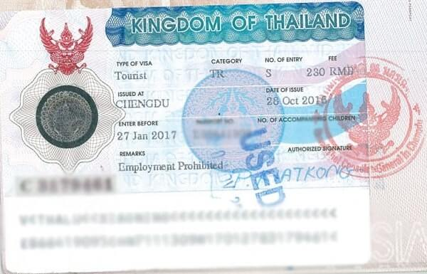 Туристическая виза однократная