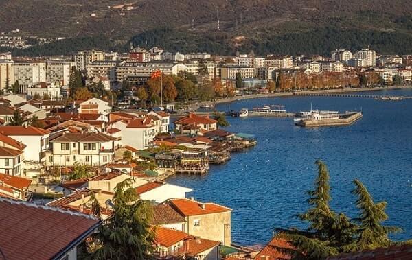 Город Охрид в Македонии