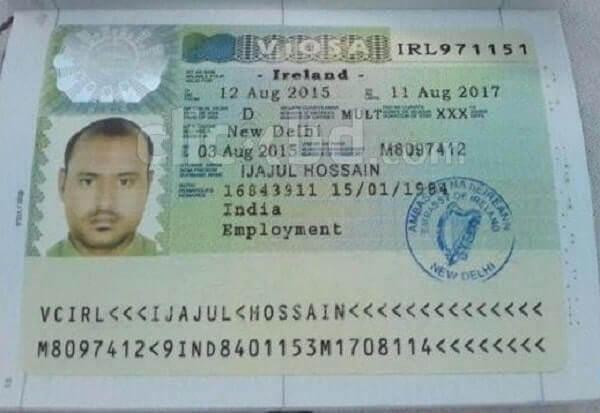 Национальная ирландская виза