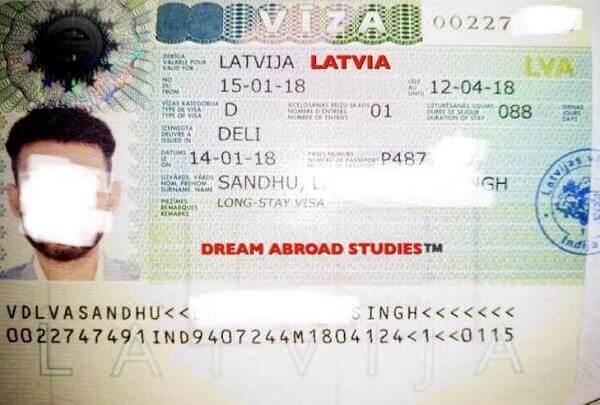 Национальная виза Латвии для студентов