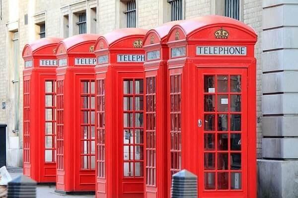 Лондонский телефонные будки