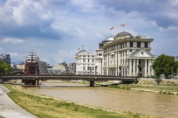 Македония Скопье, река Вардар