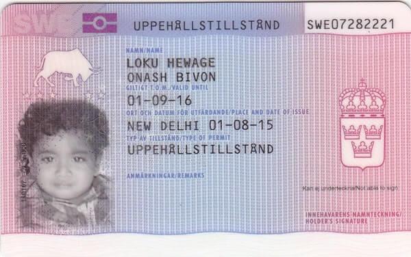 Детская виза Швеции