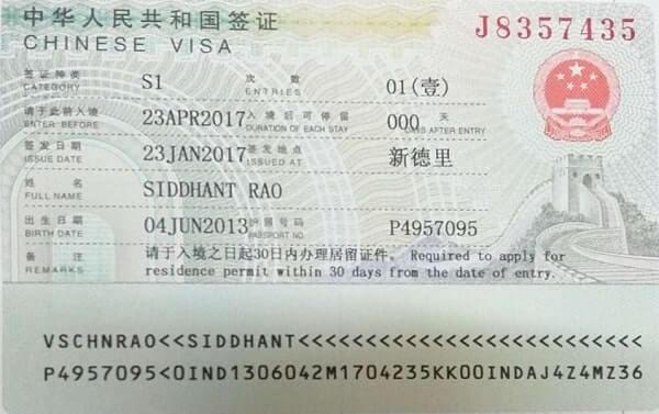 Visa China S1