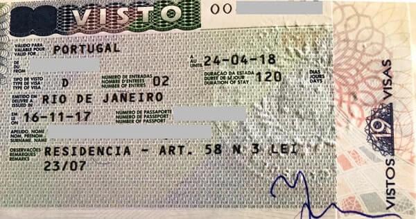 Португальская национальная виза