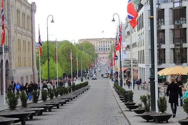 улица Осло Норвегия