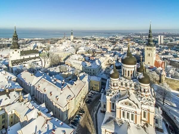 Таллин панорамный вид