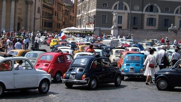 Автомобильный поток в Италии