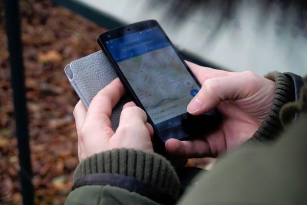 карта страны в мобильном телефоне