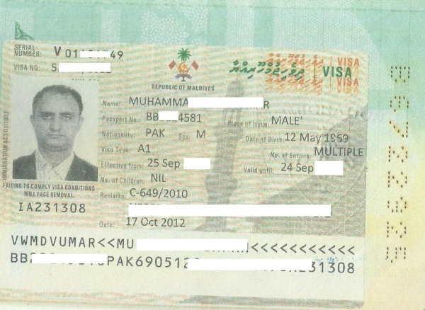 Рабочая виза Мальдив