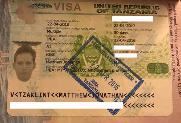 Многоразовая виза в Танзанию