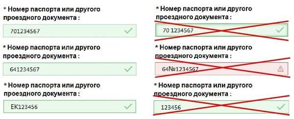 Раздел анкеты Удостоверение личности и проездные документы-1