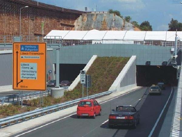 тоннель Herrentunnel - въезд